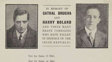 In the memory of Cathal Brugha and Harry Boland