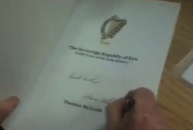Sovereign Republic of Éire book launch by Thomas McGrath