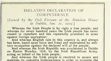 Ireland's Declaration of Independence