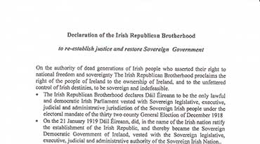 Declaration of the Irish Republican Brotherhood