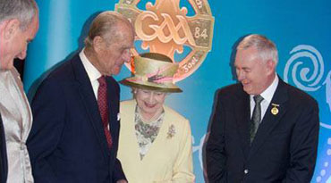 Medal changed in 2008... Soil removal 2009... Queenie visit was 2011 and himself and herself could happily stand in front of the Logo while in Croker. (She could NOT stand in front the Seal and name of the entire Nation)