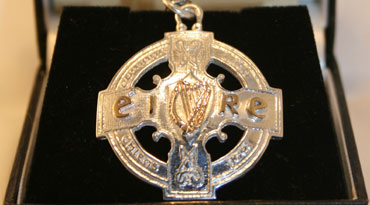 Newly made All Ireland Medal in Gold and Silver