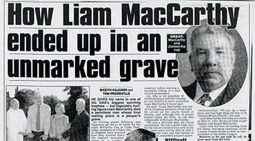 How Liam McCarthy ended up in an unmarked grave