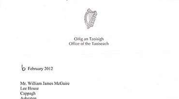 Taoiseach's Reply to Billy