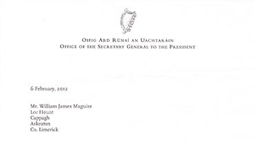 Michael D Higgins's Reply to Billy