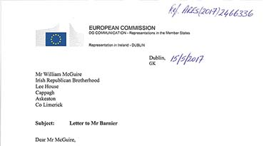 Reply from Michel Barnier
