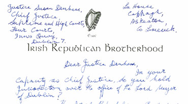 Billy's Letter to Justice Susan Denham