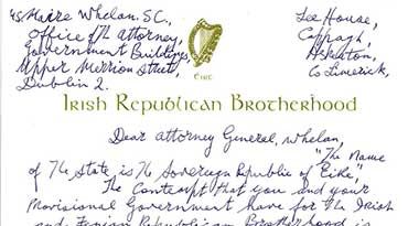Billy's Letter to Ms Maire Whelan