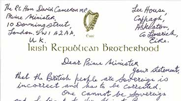 Billy's Letter to David Cameron