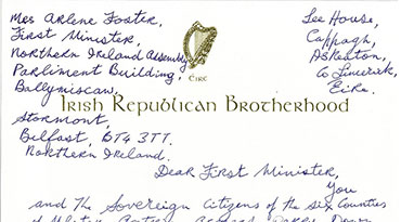 Billy's Letter to Mrs Arlene Foster