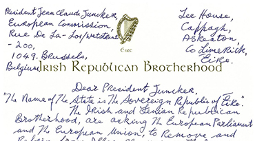 Billy's Letter to President Jean Claude Juncker