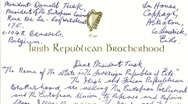 Billy's Letter to President Donald Tusk