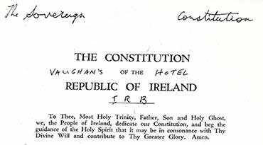 The Sovereign Constitution of The Sovereign Republic of Éire - 1919