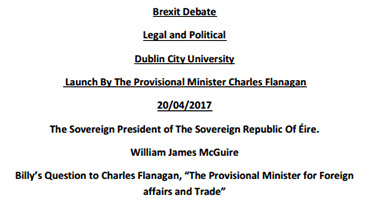 Brexit Debate: Billy's Question to Charles Flanagan
