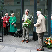 Addressing the Easter Monday Commemoration of IRB member Phil Shanahan on Foley Street