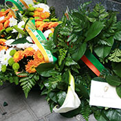 Wreath laid at the Phil Shanahan Commemoration Foley St.,Dublin