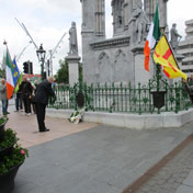 Laying wreath at O' Donovan Rossa Commemoration Cork