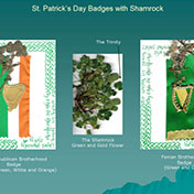 St Patrick's Day Badges with Shamrock