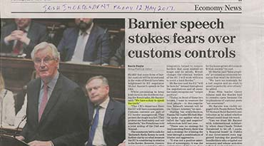 Barnier speech stokes fears over customs control